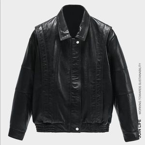 Zara 80's vintage leather jacket